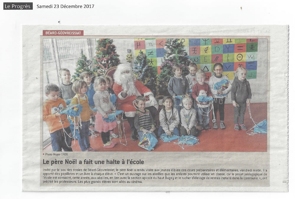 pere noel a l ecole